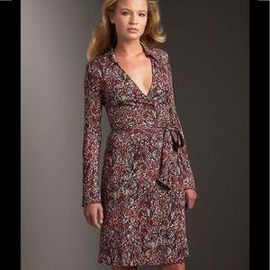 Diane von Furstenberg vintage wrap dress Sz 6
